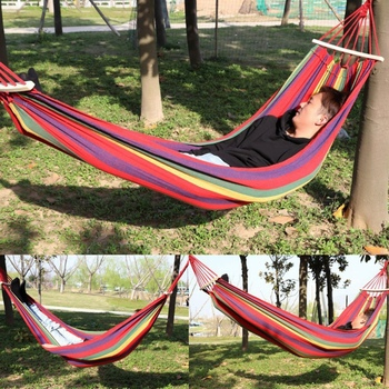 Striped Hammock Chair Swing Chair Seat Travel Camping Hammock Outdoor Garden Adults Kids Hanging Chair furniture neck hammock swings baby hammock kids hanging chair indoor outdoor child swing chair children hammock hanging child seat camping furniture