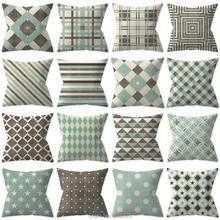 Funda de cojín ZENGIA, estilo nórdico, Vintage, marrón, verde, geométrico, con puntos de estrellas, almohada estampada, cubre las almohadas decorativas para el sofá del hogar