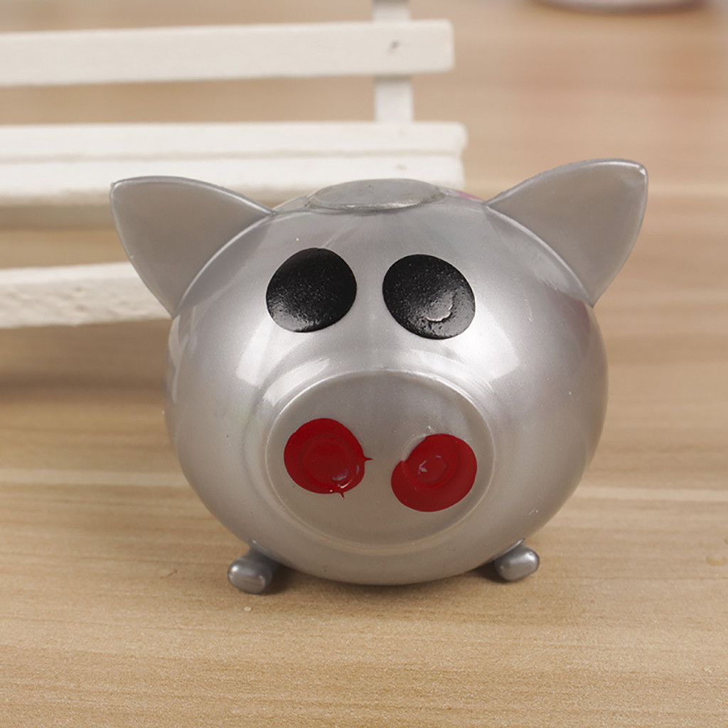 Squeeze Toy 1Pc Jello Pig Cute Anti Stress Splat Water Pig Ball Vent Toy Venting Sticky Pig Jumbo Squishy