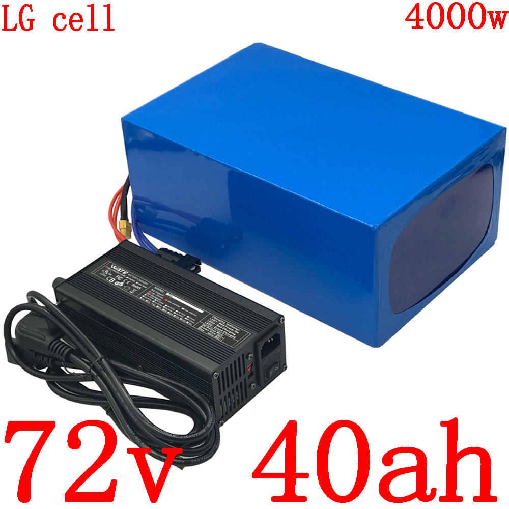 72V 40AH Lithium battery pack 72V3000W 4000W electric scooter battery 72V 40AH electric bicycle battery use LG cell with charger image