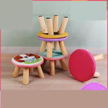 Children's Small Stool Cartoon Shoe Changing Cloth Art Household Solid Wood Low Gift Sofa Stall