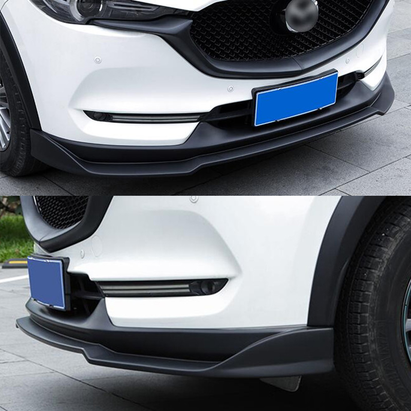 1Pcs Car ABS Silvery Lower Grille Grid Cover Frame For Mazda CX-5 CX5 2017-2019
