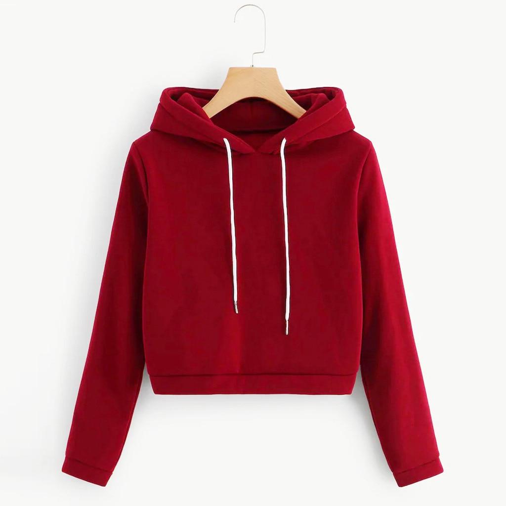 hoodies 2020 Women Autumn Casual Long Sleeve Sweatshirt Hooded Top Blouse moletom feminino inverno#4