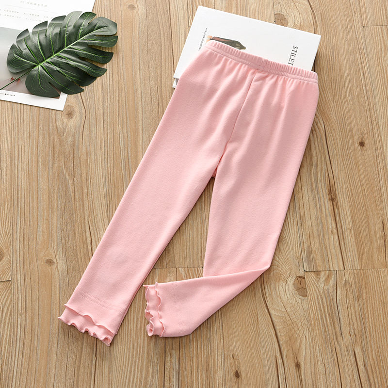Vidmid Girls Cotton Casual Leggings Cropped Pants Baby Wear Elastic Summer Thin Section Children's Modal  Trousers Clothes P211 4