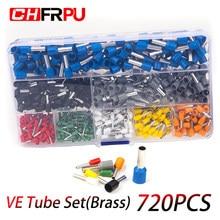 720 pces encaixotado isolado fio conector terminal de friso terminator isolamento de pressão fria ve0508 7508 1008 1508 2508 4009 6012