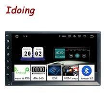 """Idoing 2Din 7 """"PX6 4G + 64G uniwersalny samochodowy system GPS Radio odtwarzacz z systemem Android ekran IPS multimedialny nawigacji Bluetooth5.0 TDA7850 jednostka główna"""