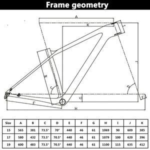 Image 4 - Spcycle 27.5er 29er carbono mountain bike quadro 148x12mm impulso ou 142x12mm através do eixo bsa mtb quadro de bicicleta