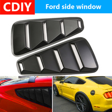 Pair 1/4 Quarter Side Window Louvers Scoop Cover Vent For Ford Mustang 2005 2006 2007 2008 2009 2010 2011 2012 2013 2014 стоимость