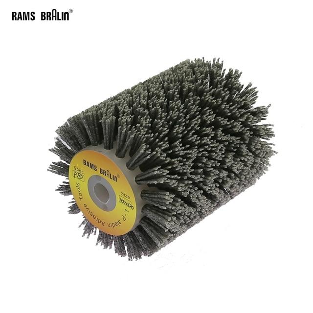 1 adet 100*120*13mm aşındırıcı tel fırça tekerlek için 9741 tekerlek zımpara P80 P600 ahşap mobilya Metal parlatma taşlama