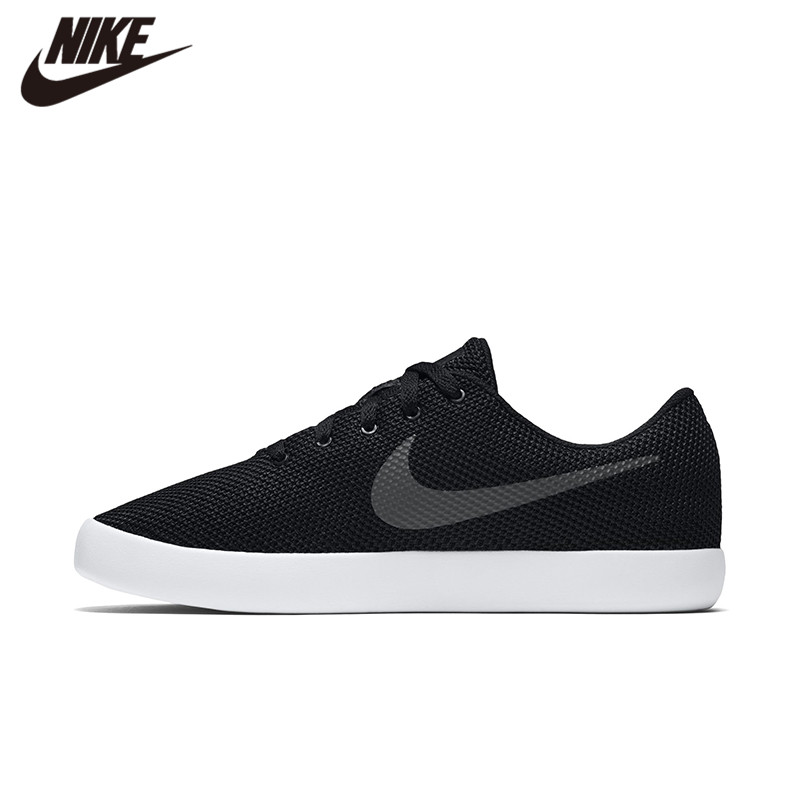 Original Authentic Nike FINALE EVO ESSENTIALIST Cut-outs Men's Breathable Skateboarding Shoes Outdoor Sneakers Black 819810-001