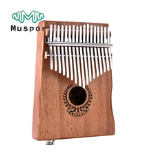 Musical-Instrument Keyboard Kalimba Mahogany Thumb-Piano Mbira Wood 20-Keys Speaker Pickup