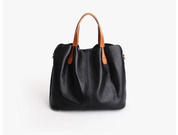 Genuine leather cow skin soft handbag for women