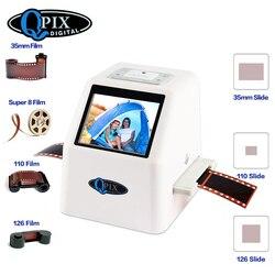 Escáner de película de 35mm 22 Mega píxeles escáner de diapositiva negativa 110 135 126KPK Convertidor para películas Digital con 2,4 LCD soporte ruso