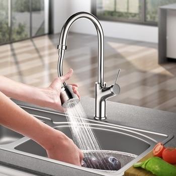 Kitchen Faucet Aerator 360 Degree Swivel Bubbler Adjustable Dual Mode Sprayer Filter Diffuser Water Saving Nozzle Fauc Connector