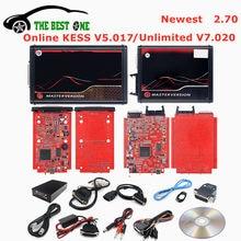 Последние 2,70 ЕС онлайн Kess V5.017 OBD2 менеджер Тюнинг Комплект V7.020 4 светодиодный 2,25 KESS 5,017 2,70 2,53 автомобиль грузовик программатор системного бло...
