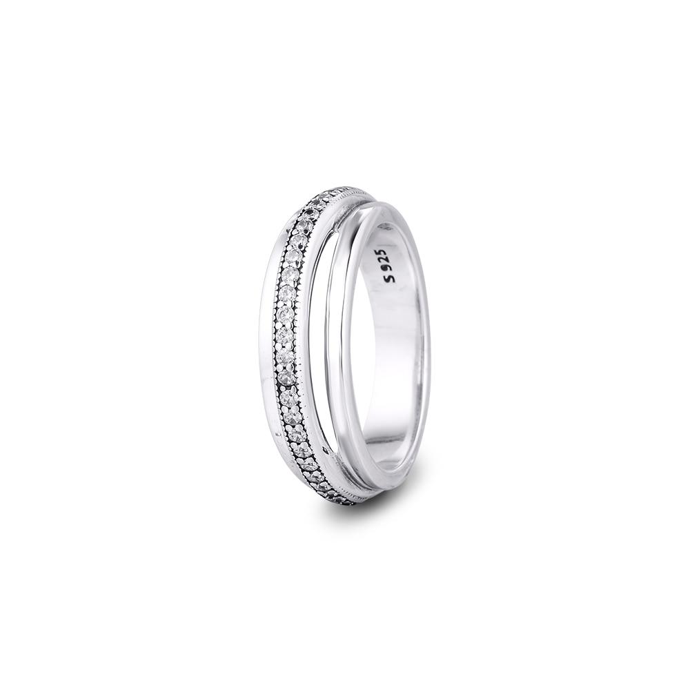 Кольцо CKK с тройной полосой, Женское кольцо, серебро 925 пробы 925, ювелирные изделия, свадебные кольца