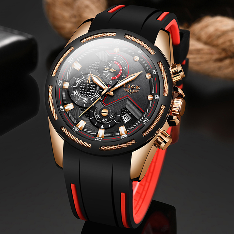 LIGE Mens Watches Top Luxury Brand Luxury Unique Sport Watch Men Quartz Date Clock Waterproof Dress Wristwatch Relogio Masculino