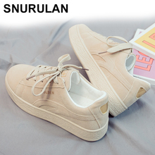 SNURULAN 2019 spring women's sneakers on the platform; Suede women