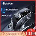 Baseus 車 AUX Bluetooth アダプタハンズフリーカーキット自動 Mp3 プレーヤーの Bluetooth レシーバーとデュアル USB 車の充電器 Fm トランスミッタ