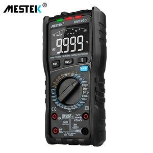 Image 3 - MESTEK multímetro Digital DM100C True RMS, 10000 cuentas con gráfico de barra analógica, amperímetro de voltaje CA/CC, corriente Ohm manual/auto