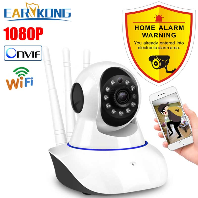 1080P HD IP Camera Wifi Wireless Security Alarm Camera Shaking Head Support Android IOS APP 2 years Warranty Home Security Alarm