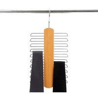 20 Clip Wooden Tie Hanger Scarf Closet Wooden Rack Storage Bag And Belt Rack Storage Rack