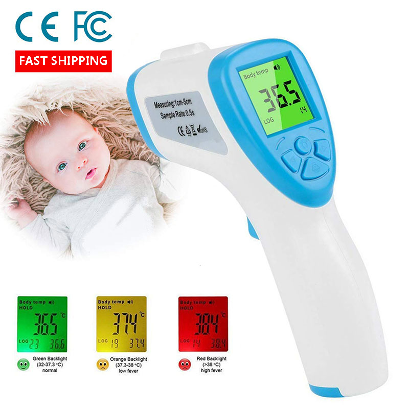 Forehead Thermometer Non-Contact Infrared Digital Thermometer Forehead and Ear Thermometer for Baby Kids and Adults Surface