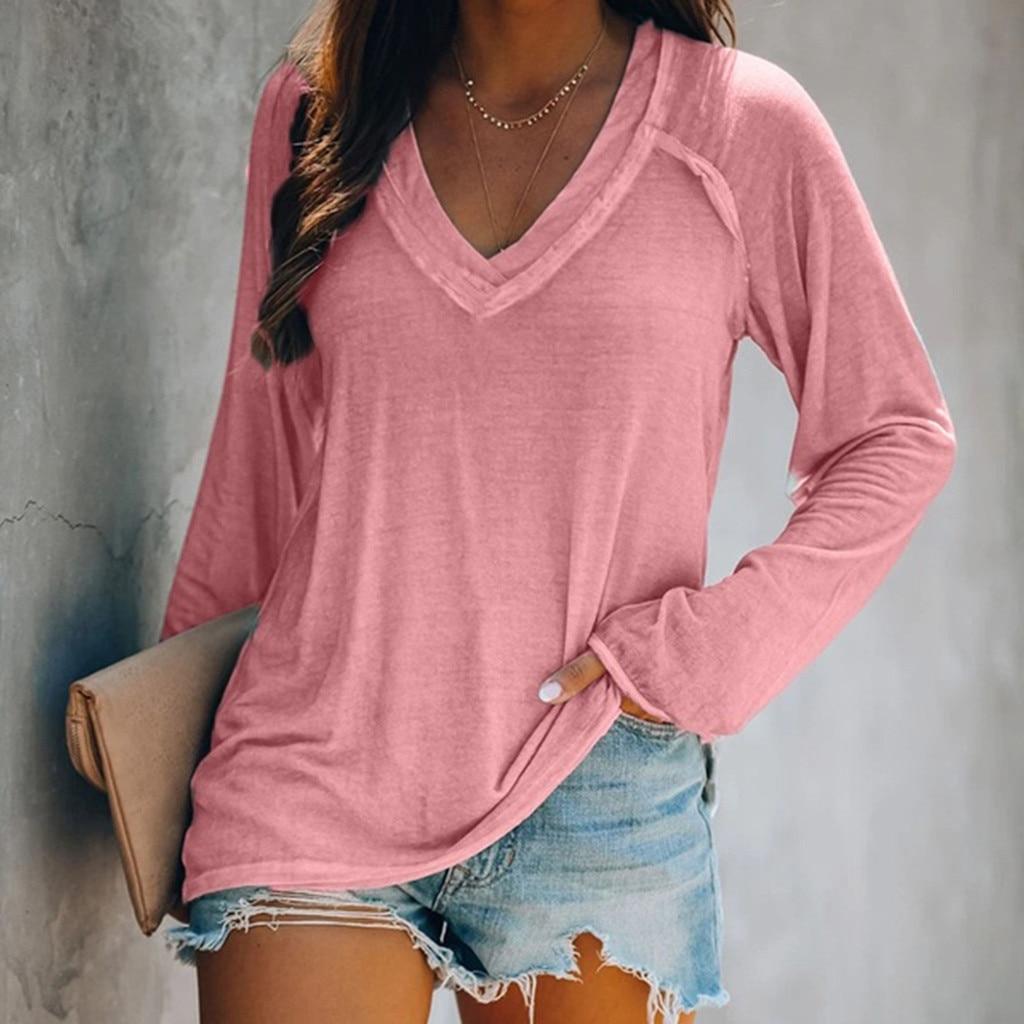 Donna Magliette Harajuku Magliette E Camicette delle donne di Autunno E Inverno Nuovo A maniche lunghe di Base Top Per Le Donne mujer camisetas футболка