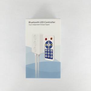 SP601E WS2812B WS2811 музыкальный контроллер встроенный микрофон с двойным сигналом адресуемых пикселей светодиодный RGB ленточный светильник IOS/Android...