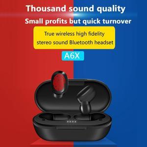 Image 2 - A6X tws 5.0 ワイヤレスイヤホンタッチスポーツゲーム Bluetooth イヤホンインナーイヤー Iphone Xiaomi 充電とボックス PK Redmi Airdots