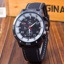 Hot Sales Sports Watch Race Car Silica Gel Large Dial MEN'S Watch Fashion Business MEN'S Quartz Watch