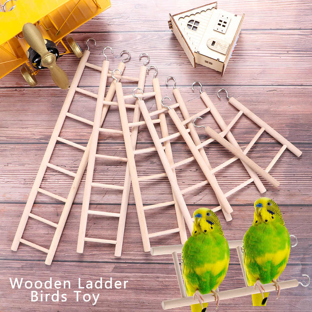 1 Pc Swing Houten Klimmen Ladder Vogel Ladders Papegaai Speelgoed Scratcher Hamsters Speelgoed Handwerk Vogelkooi Opknoping Decoratie Benodigdheden
