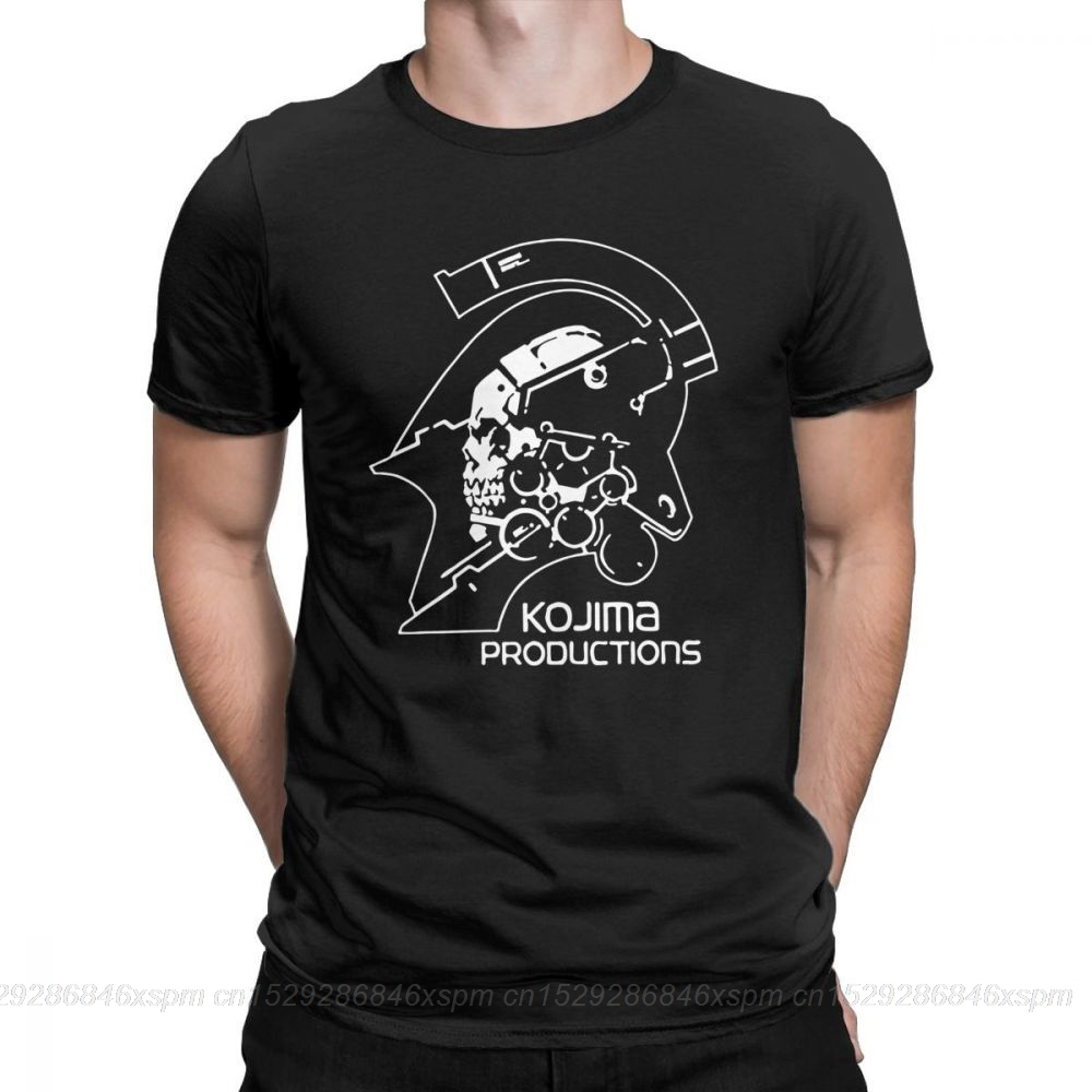 one yona Men's Metal Gear Kojima Productions T Shirts MGS Hideo Kojima T-Shirt Death Stranding Cotton Short Sleeve Tees Printed(China)