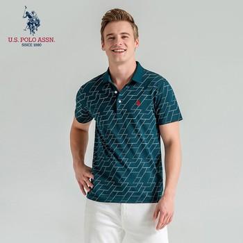 Polo Assn Letnia nowa męska koszulka z krótkim rękawem z haftem w paski klasyczna koszulka Polo dla mężczyzn tanie i dobre opinie U S POLO ASSN Daily SHORT Na co dzień Na wiosnę i lato CN (pochodzenie) Mieszanka bawełny REGULAR oddychająca Stałe