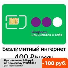 SIM-карта Мегафон 400 руб/мес безлимитный интернет для модема/роутера ПОЛУЧЕНИЕ В ОФИСЕ МЕГАФОН