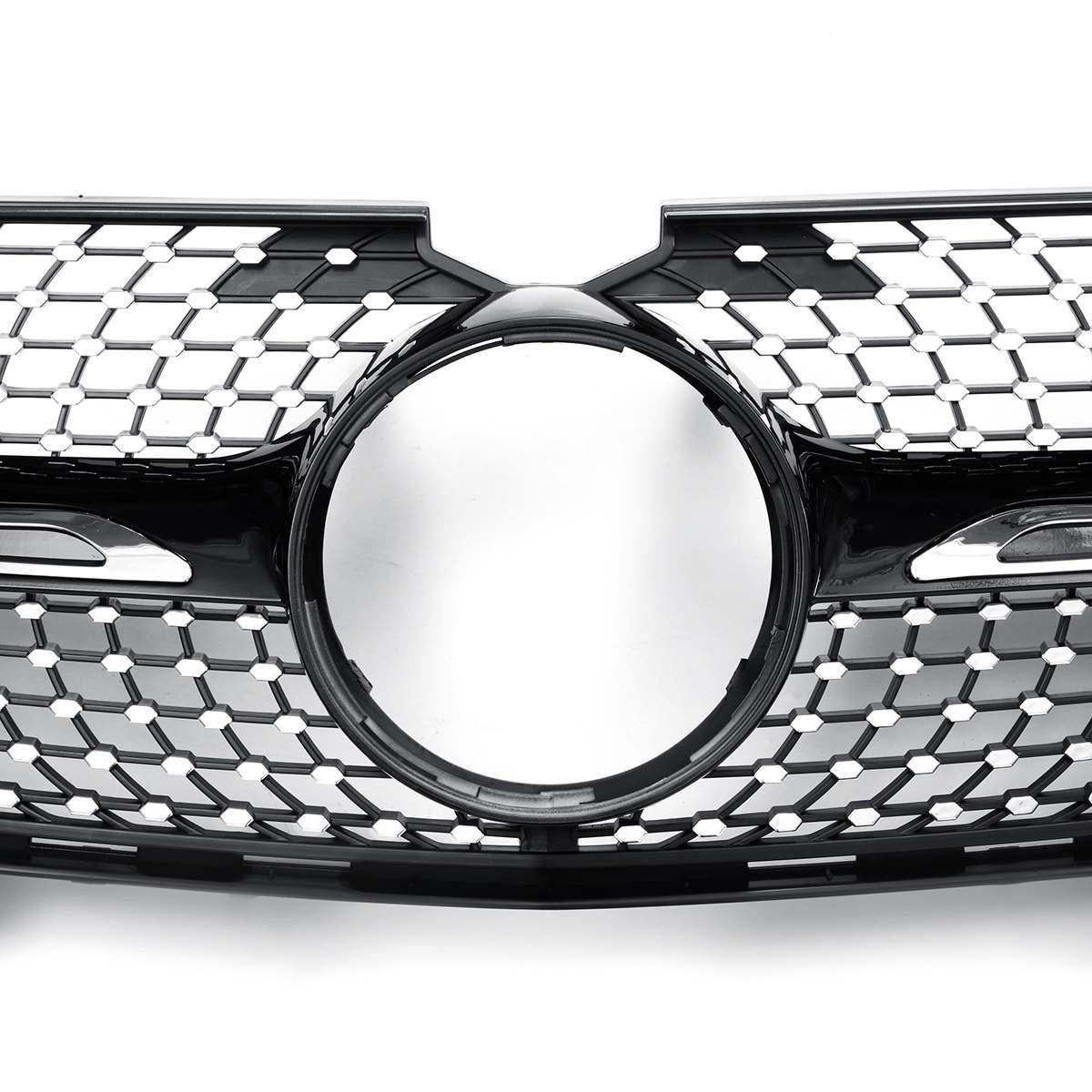 Gril de calandre avant de voiture X164 Diamond Grill pour Mercedes ForBenz X164 GL320 GL450 GL350 2007-2012 grilles de course - 5
