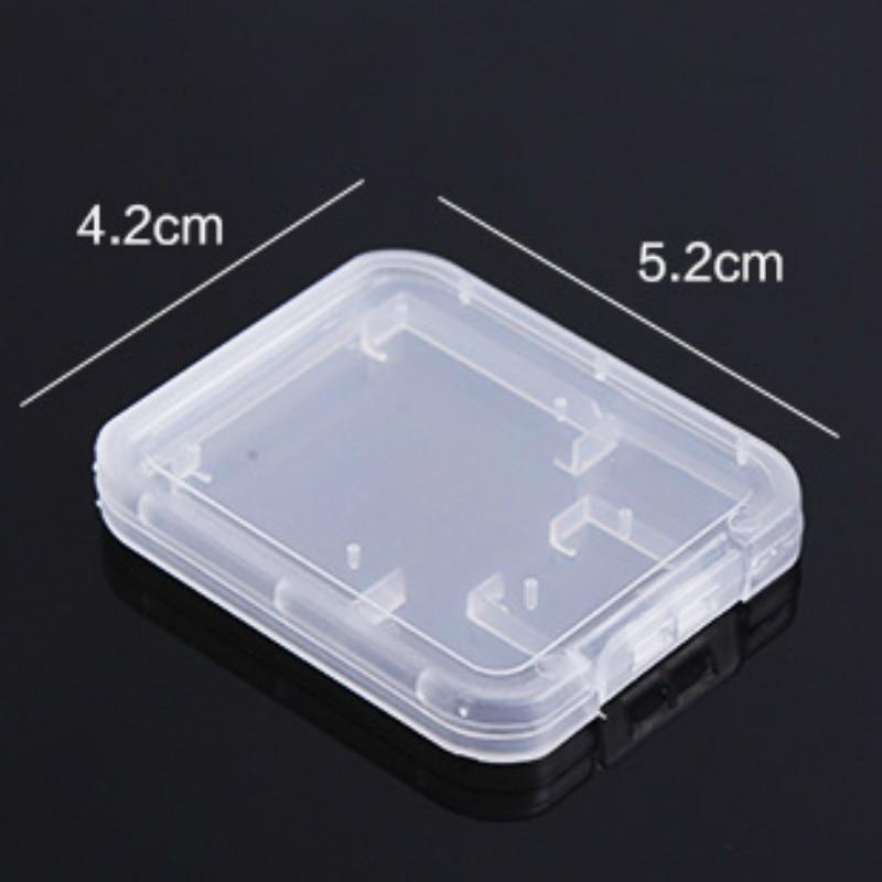 Image 4 - Карты SD/TF карта памяти защитная коробка для Камера небольшая белая коробка высокого качества пластиковый, прозрачный, для карт чехлы-in Чехлы для карт памяти from Компьютер и офис