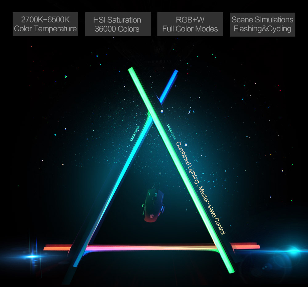 NanGuang LED Tube Light RGB Color Photography Light Handheld Light Stick with Built in battery For Photos Video Movie Vlog image