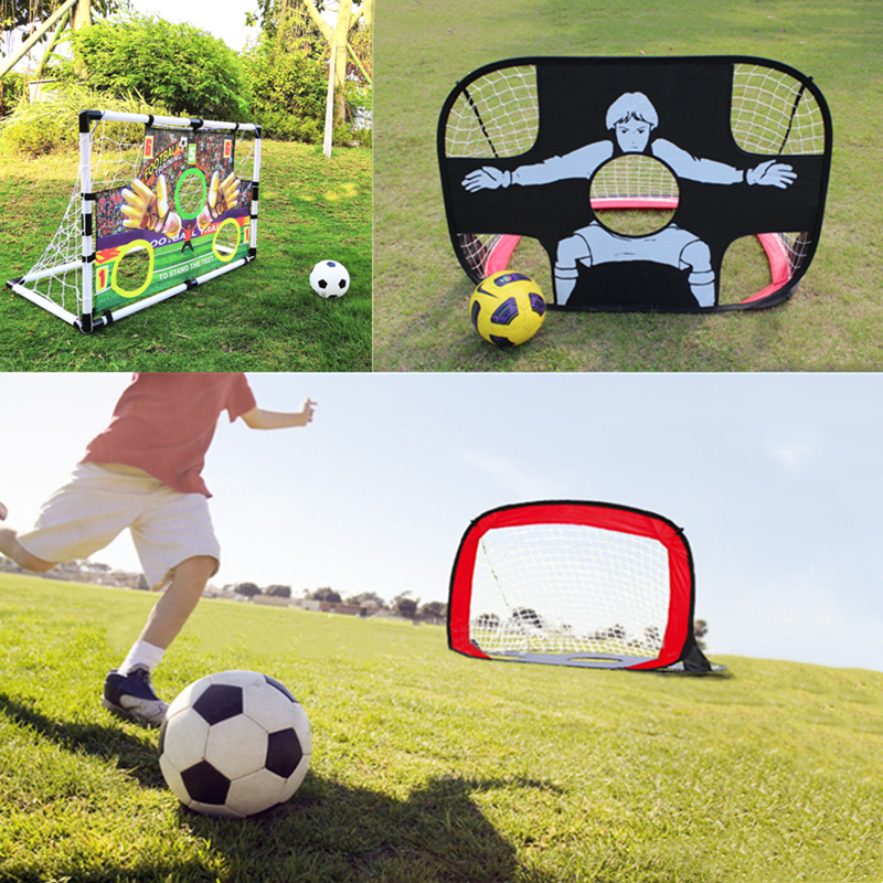 Outdoor/Indoor Children Kids Portable Folding Pop Up Football Soccer Goal Training Net Games Toy Child Birthday Gift