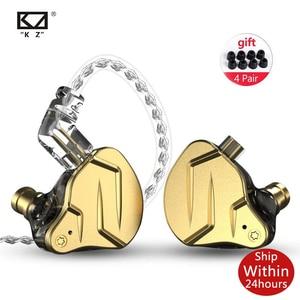 Image 1 - Kz Zsn Pro Наушники вкладыши 1ba + 1dd гибридные технологии Hifi бас металлические наушники вкладыши Наушники спортивный шум Bluetooth кабель для ZSX ZAX