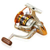 Nuova Bobina di Pesca 500-9000 Series 5.5: 1 Baitcasting Reel Acqua Dolce Acqua Salata di Pesca Portatile Bobina di Filatura Ruota 12BB