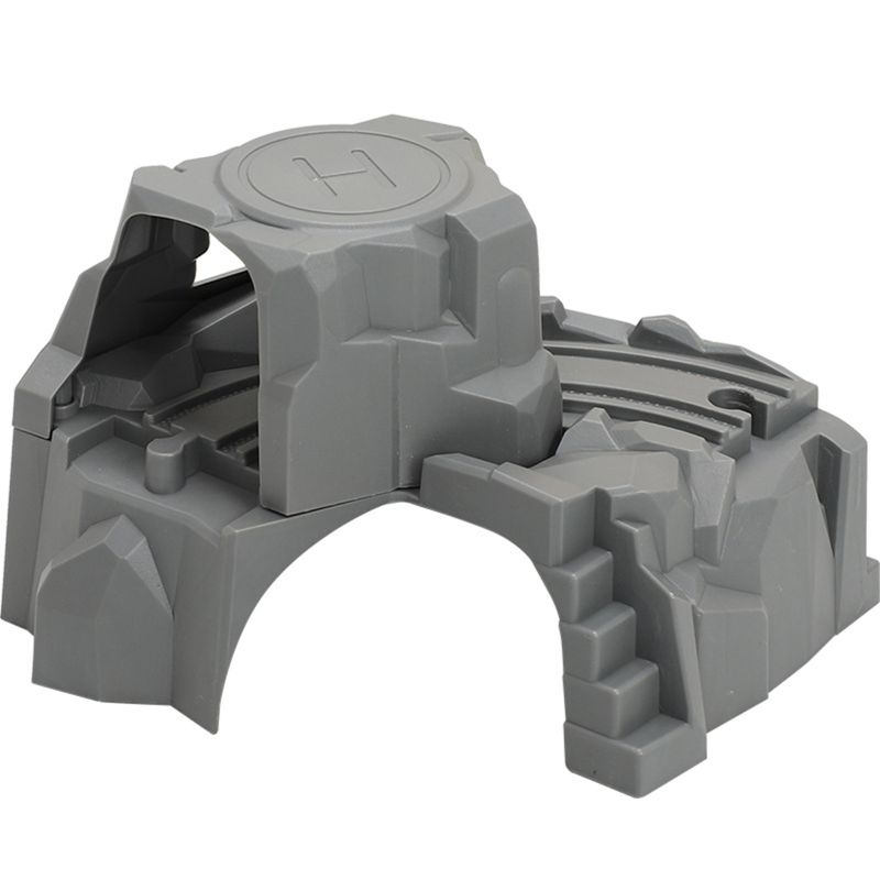 Plastic Grey Double Tunnel Wooden Train Track Accessories Tunnel Track Train Slot Wood Railway Toys