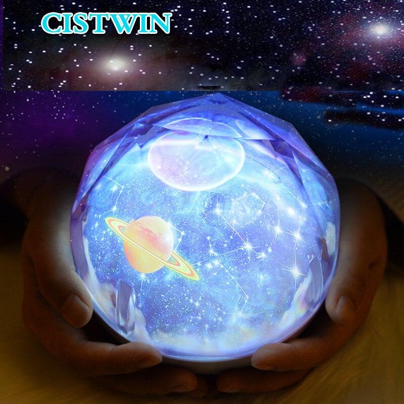 Night Light Starry Sky Planet Magic Home Planetarium  Projector   Earth Universe LED Colorful Rotate Flashing Star Kids Lamp 5V
