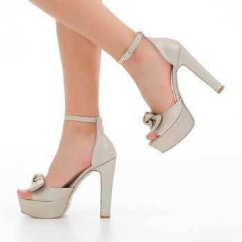 MST-1001 Golden Silvery Women pumps fashion high heels shoes Black Pink yellow shoes women bride Women's