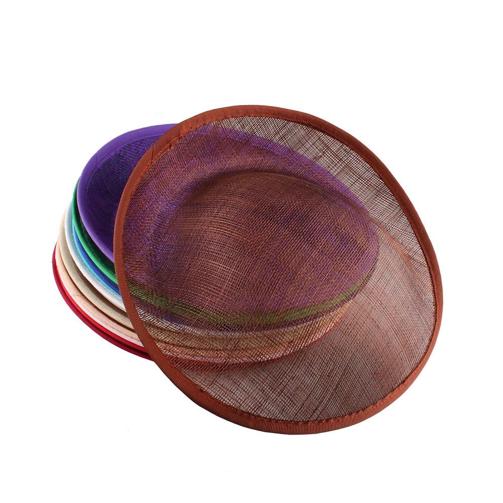 25CM Brown Fascinator Base Wedding Royal Ascot Party Sinamay Fascinator Hats Base DIY Hair Accessories Craft Headwear 12PCS/Lot