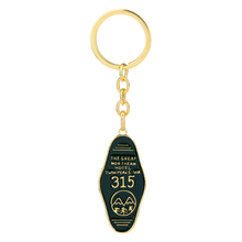 TV Show Twin Peaks Keychain Green Prismatic Acrylic Pendant Key Chain The Great Northern Hotel Room # 315 Gift For Fans