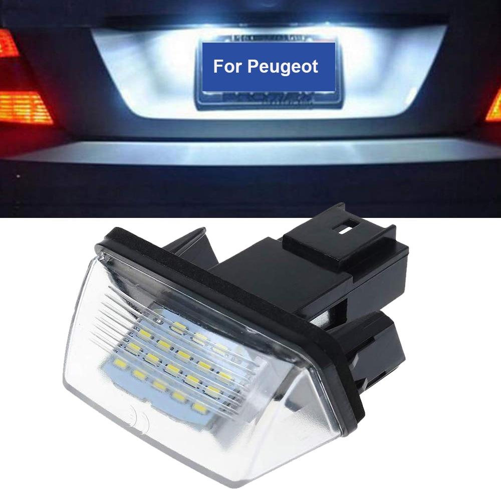 1 шт. 12 В светодиодный ная лампа для автомобильного номерного знака для Peugeot 206 207 306 307 406 407 для Citroen C3 C4 C5 лампа для номерного знака