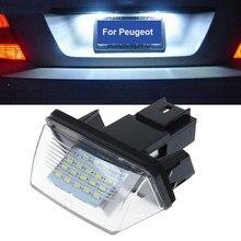 1pc 12v conduziu a lâmpada da placa de licença do carro auto para peugeot 206 207 306 307 406 407 para citroen c3 c4 c5 placa número lâmpada