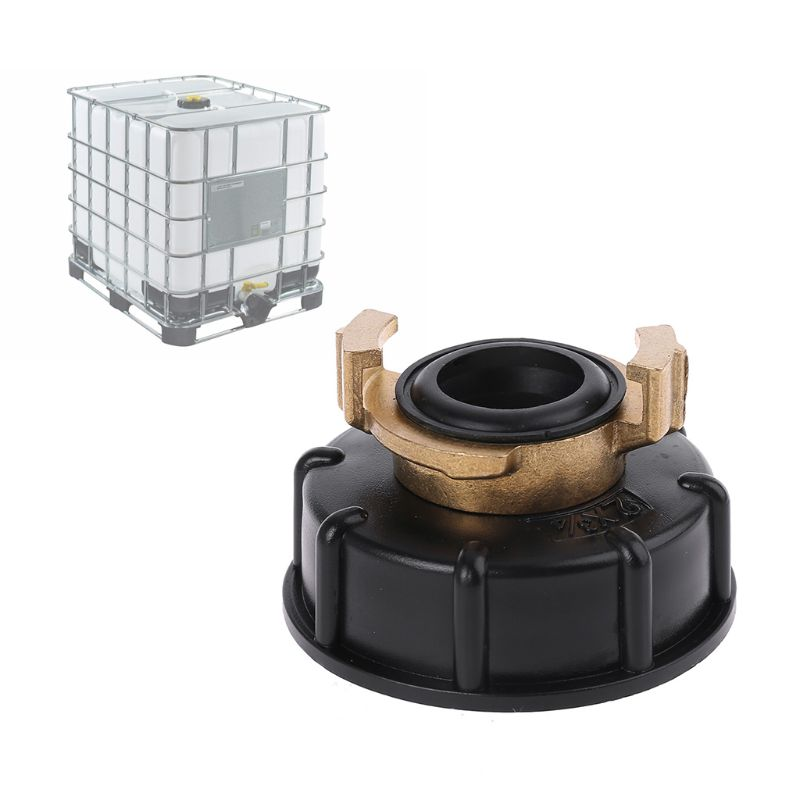 Water storage tank IBC Tank adapter S60X6 <font><b>geka</b></font> style hose connector Irrigation Practical Outlet Thread Accessories Fittings Q1QC image