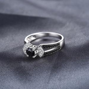 Image 3 - Jewelrypalace genuíno preto spinel anel 925 anéis de prata esterlina para as mulheres anel de noivado prata 925 pedras preciosas jóias finas